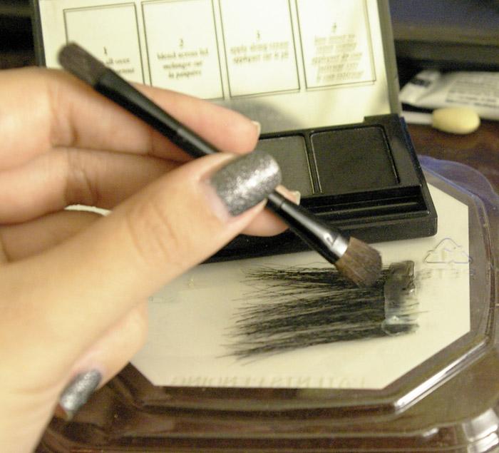 Накладные ресницы из бумаги для потрясающего макияжа